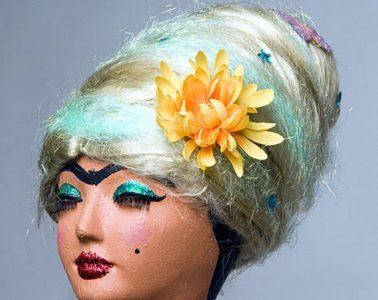 Cotton Candy Wig by CraftyChica.com.