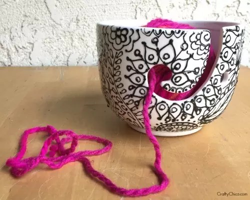 How to paint a yarn bowl by CraftyChica.com.