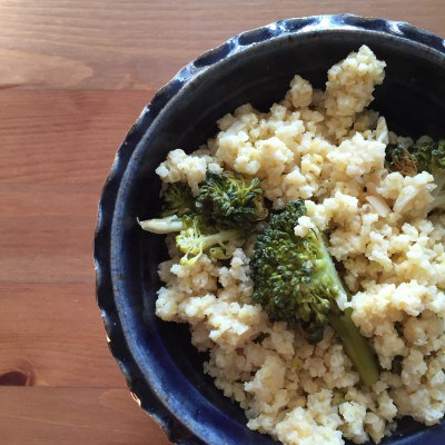 'Not Just For Birds' Roasted Broccoli and Millet Pilaf
