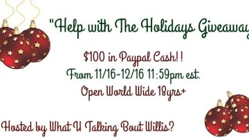 Help with the Holidays $100 PayPal Cash Giveaway