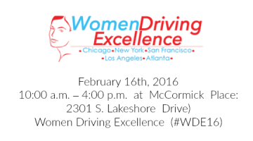 Women Driving Excellence 2016 – #WDE16 @WoDrEx
