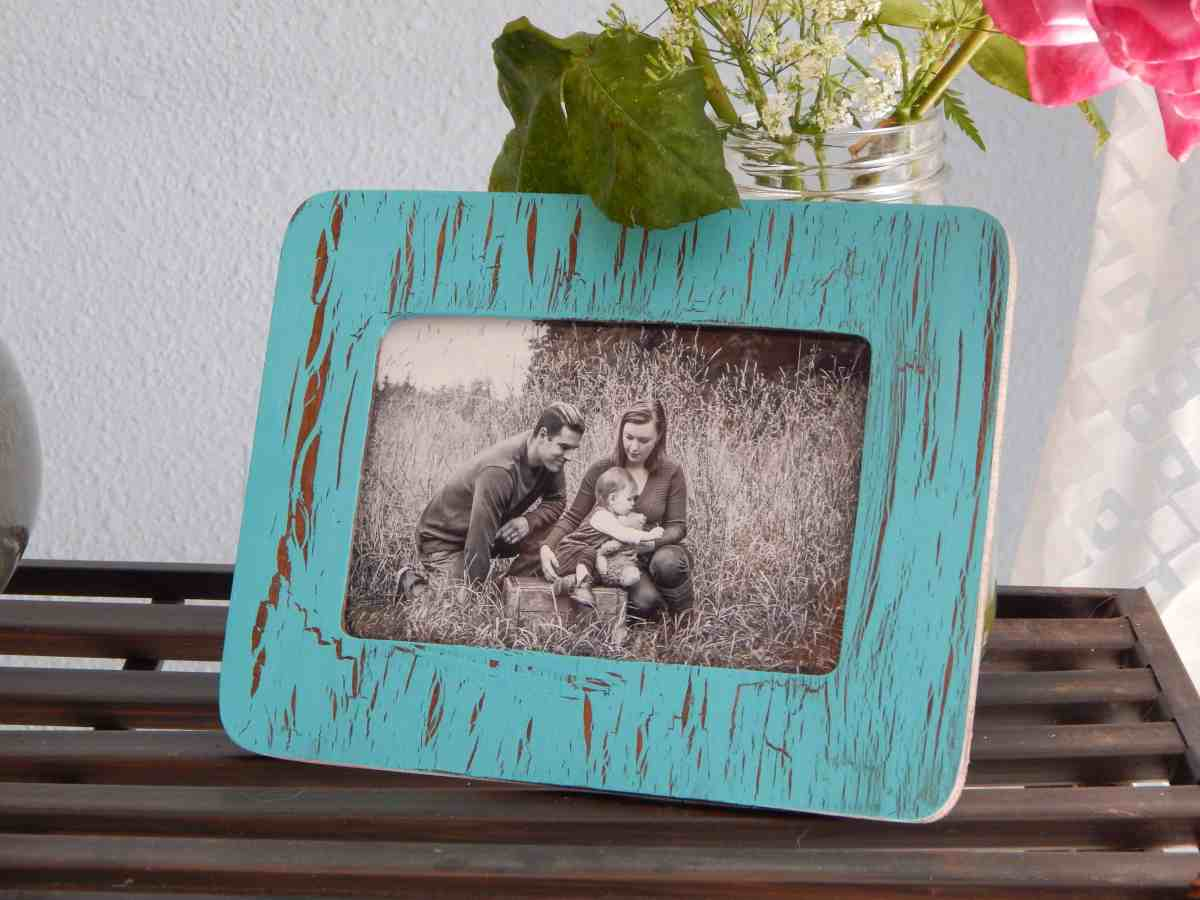 Easy Crackle Finish Frame