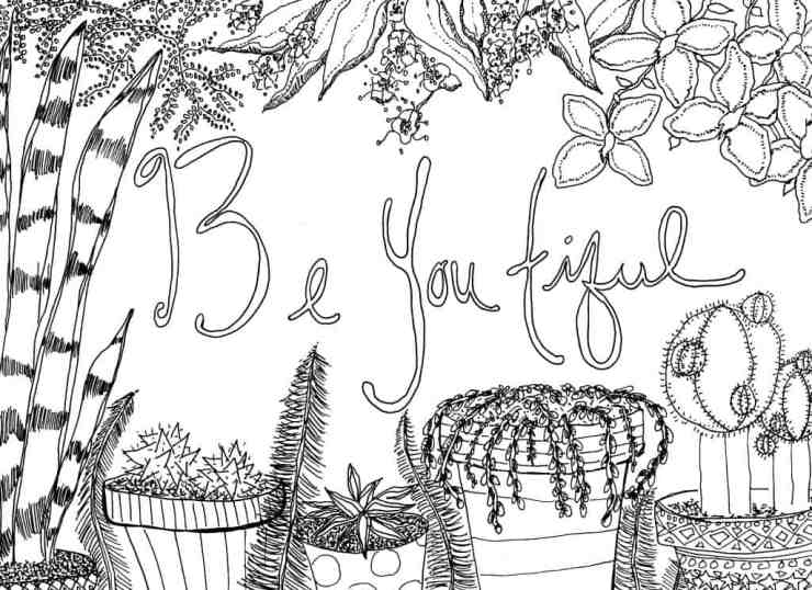 Printable Coloring Page: October