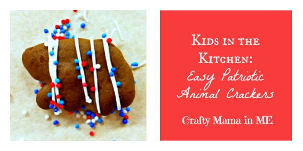 Kids in the Kitchen: Easy Patriotic Animal Crackers