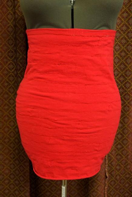 DIY Bandage Skirt front finished