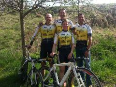 Rad Team Crailsheim mit Markus, Ulrike, Tim und Udo