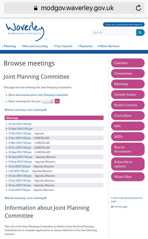 Waverley-JPC-meetings-cancelled