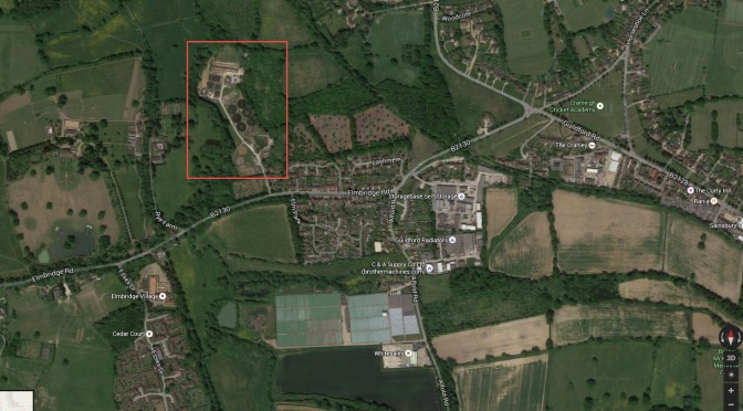 Picture showing the location of Cranleigh Sewage Treatment Works