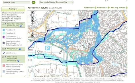 EA flood map for planning school sites