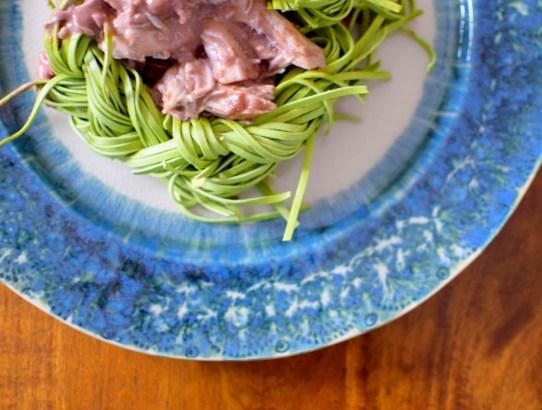 Red Wine Spinach Pasta Nests-012