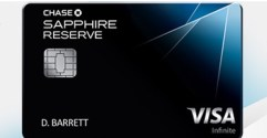 Chase Sapphire Reserve 50% More in Travel Redemption
