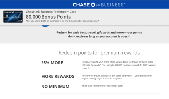 Chase Ink Business Preferred Benefits