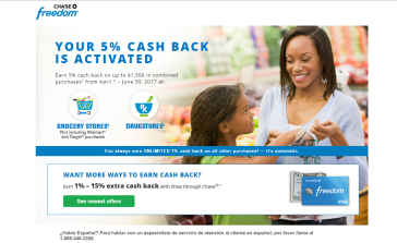 Earn 5% Cash Back at Grocery Stores and Drugstores