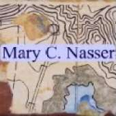 Mary Nasser - Mixed Media Map Art