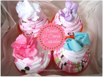 Baby Blanket Cupcakes