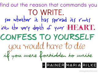 Sit Down And Write Quote