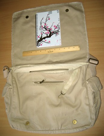 Cafe Press Messenger Bag Open