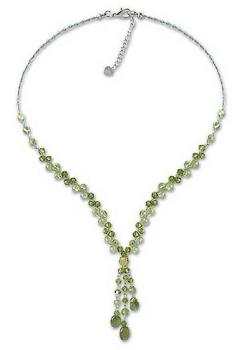 Novica Lime Ice Necklace