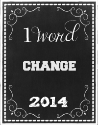 One Word 2014 - Change