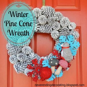 Winter Pine Cone Wreath