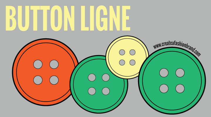 button ligne. measuring buttons for manufacturing and sampling. fashion button sizes mm and ligne, For fashion brands, designers and clothing lines