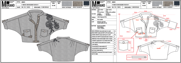 Technical Pack or Tech Pack for clothing apparel. What is inside a Tech Pack. Tech Pack template