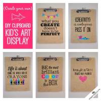 DIY Clipboard Kids Art Display