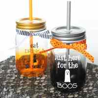 Halloween Mason Jar Drink Glasses