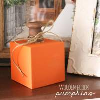 Wooden Block Pumpkins