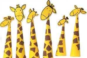 girafe de hartie haioase si foarte usor de facut