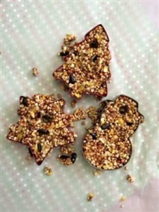 Hranitoare pentru pasari in forme de biscuiti, foarte usor de facut - pasul 3