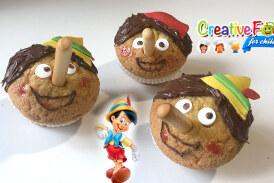 Pinocchio cupcake