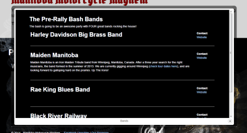 Manitoba Motorcycle Mayhem Bands