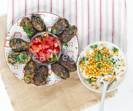 Hara bhara kabab de grelos