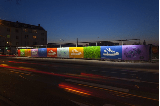 Converse Just Add Color Guerrilla Graffiti Hits The Streets Guerrilla Marketing Photo