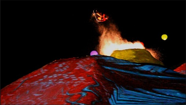 EXTREME Projection Mapping on a Snowboard Mountain Guerrilla Marketing Photo