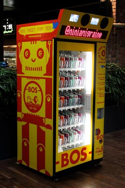 Twitter Powered Vending Machine by BOS Ice Tea Guerrilla Marketing Photo