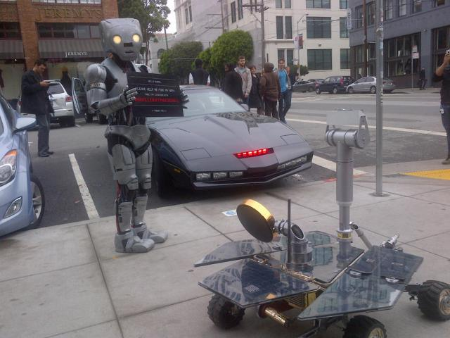 Robot Invasion or Unusual Guerrilla Marketing Campaign? Guerrilla Marketing Photo