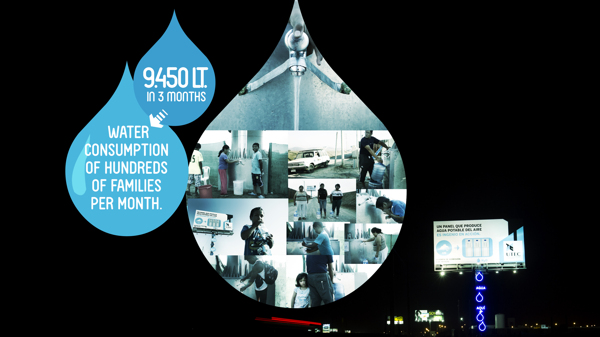 Creative Billboard Produces Drinkable Water From Air Guerrilla Marketing Photo