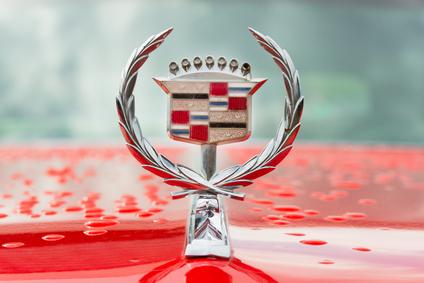 cadillac logo, emblem of car