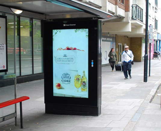 Stella Artois Cidre Poster Ad Activated By Warm Weather Guerrilla Marketing Photo