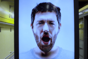 Contagious billboard makes you yawn to promote coffee