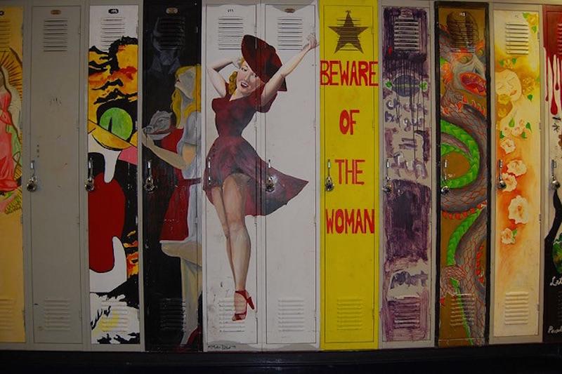 The Best Locker Art in the World Guerrilla Marketing Photo