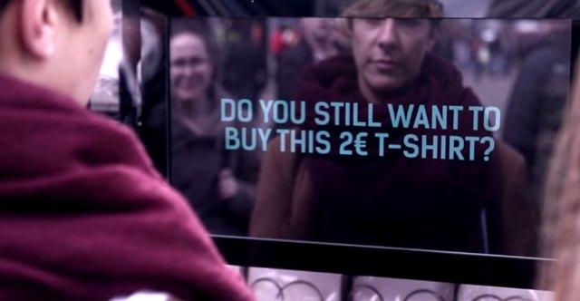 Fashion Revolution Vending Machine Makes You Reconsider Cheap Fashion Guerrilla Marketing Photo