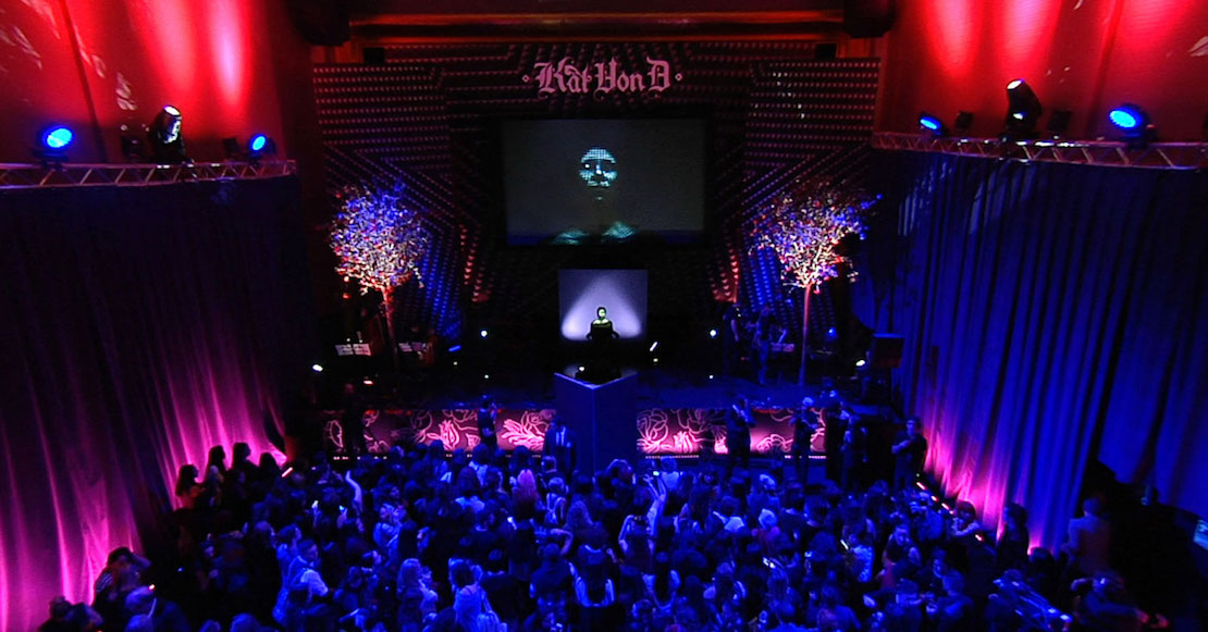 Wildbytes Produces First Ever Live Face Projection Mapping Show With Kat Von D Guerrilla Marketing Photo