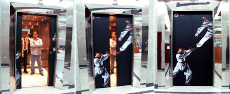 10 Guerrilla Advertising Examples of Elevators Guerrilla Marketing Photo
