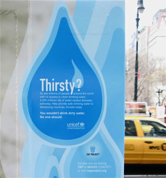 UNICEF Sells Dirty Water in Guerrilla Marketing Campaign Guerrilla Marketing Photo