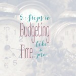 5 Steps to Budgeting Time Like a Pro