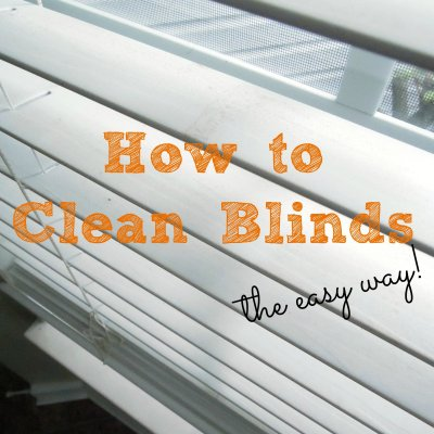 How to Clean Blinds
