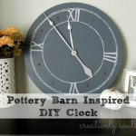 Pottery Barn Knock-Off DIY Clock